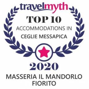 Masseria il Mandorlo Fiorito è stata scelta da Travel Myth, leader del turismo internazionale