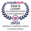 Masseria il Mandorlo Fiorito è stata scelta da Travel Myth anche per l'anno 2021